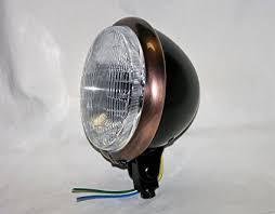 "Mr Luckys Black Satin 5-3/4"" Headlight with Antique ... - Amazon.com"