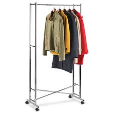 Mobile Coat Rack The Foldaway Mobile Coat Rack Hammacher Schlemmer 2