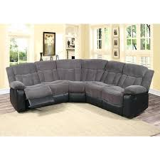 3 pieces sofa 3 piece grey fabric and faux leather reclining sectional living room sofa 3