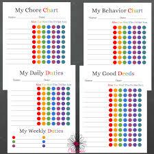 my responsibility chart kids responsibility chart set