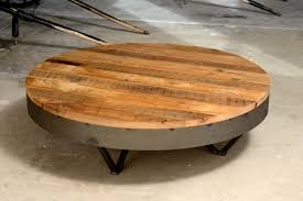 furniture wood round coffee table awesome coffee tables table rustic wood with metal legs modern