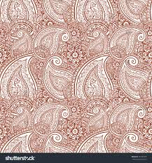 Seamless ornamental pattern with indian lace floral paisley ornament. Vector