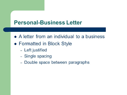 Personal Business Letter Block Style Personal Business Letters Keyboarding Connections Ppt Download