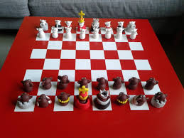 Monkeys vs Cats Chess Set | James & Lucy Mullaly