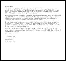 Letter Of Recommendation For Medical Doctor Sample Letter Of Recommendation From A Doctor Simple Template