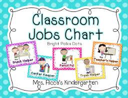 Helpers Chart Mrs Riccas Kindergarten Classroom Helpers Chart