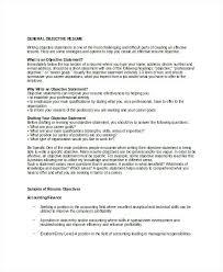 Sample Objective Statement Resume Effective Resume Objective