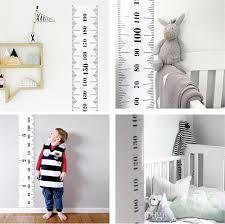 Children Kids Growth Chart Height Ruler Wall Sticker Ruler Growth Chart Wall Decal Height Measurement Sticker Decorative Gift