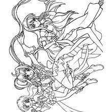 Small Picture Luchia with kaito coloring pages Hellokidscom