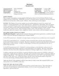 Entry Level Biologist Jobs Resume Job