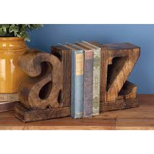 a-z Wooden Bookends