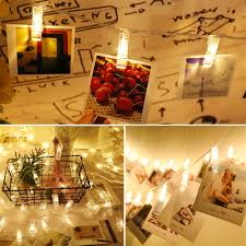 Dining Room Fairy Lights Us 2 89 42 Off 1 2m Photo Clips String Light Battery Operated Fairy Lights For Hanging Photos Pictures Cards Memos For Birthday Xmas Bedroom In