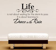life dance in the rain quote lettering wall art with words decal simple sticker home decoration  on wall art words stickers with wall art give you ideas about wall art with words kitchen word art
