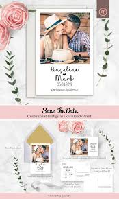 Print Your Own Save The Date Photo Save The Date Template Corjl Template Thank You Card