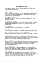 Business Report Outline Template New Business Report Template Pdf ...