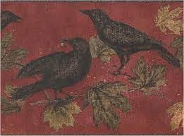 Amazon.com: Wall Border - Black Birds ...