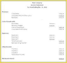 Monthly Profit And Loss Statement Monthly Income Statement Template