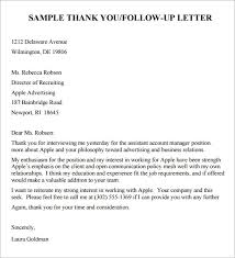 Gallery Of Follow Up Letter Interview Follow Up Letter Sample