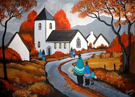 Image result for rural church paintings