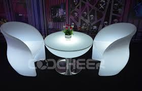 Rechargeable Led Lounge Furniture illuminated coffee table Anti UV