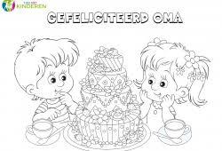 Kleurplaten Verjaardag Oma 60 Jaar Mandala Kleurplaat Voor Kinderen