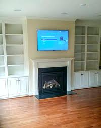 wall mounted fireplace acoustic ceiling speakers tv above brick gas ideas installing