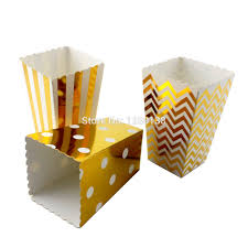 Decorative Popcorn Boxes 60pcslot Chevron Striped Polka Dot Popcorn Boxes Carnival Circus 10