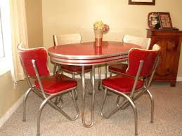 retro dinette sets kitchen table and chair dining vintage chrome chairs