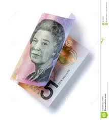 5 Dollar Design Rolled Australian Money Five Dollar Stock Photo Image Of