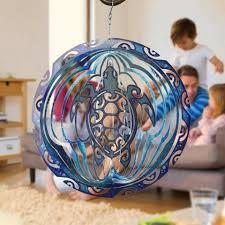 3d sea turtle wind spinner