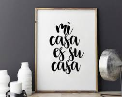 Small Picture Mi casa quote print Etsy