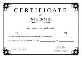 Sample Certificate Templates Internship Certificate Templates Free Internship Tips And Advice