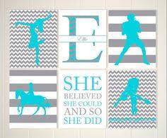 girls sports art horseback girl wall art dancer diver girl wall art  on teenage girl wall art with teen girl gift sports art girls basketball girls volleyball