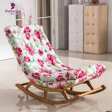 vintage rocking chair fabric upholstery classical luxury french style furniture living room vintage relax rocking