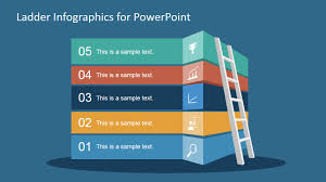 Infographics For Powerpoint Free Ladder Infographic Slide For Powerpoint Slidemodel