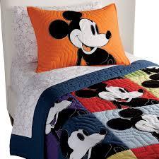 best ethan allen disney quilt mickey mouse color block