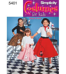 Joann Fabrics Patterns Impressive Simplicity Pattern 48Child Girl Poodle Skirt Costumes JOANN