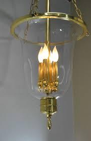 williamsburg style brass glass chandelier light fixture 12