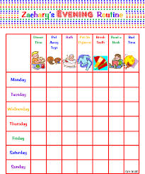 Daily Routine Chart For 2 Year Old Crafty Girl Bliss Morning Evening Routine Charts For My 2
