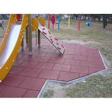 swastik rubber grey and black and multicolour outdoor playground rubber flooring tile size in