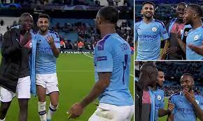 Benjamin Mendy and Riyad Mahrez mock Raheem Sterling for not scoring four  despite Atalanta hat-trick