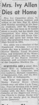 Mrs. Ivy Allen Dies - Newspapers.com