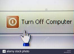 Turn Off Computer Computer Program Display To Turn Off Computer Stock Photo 11082609