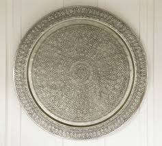 Decorative Metal Serving Trays Decorative Metal Disc Silver Pottery Barn 86