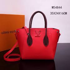 fake lv louis vuitton m54844 freedom tote handbags real leather bags red