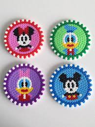 Cool Designs With Perler Beads Cute Disney Perler Bead Coasters Perler Bead Disney
