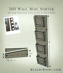 hanging mail holder wall