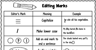 Editing Marks Chart For Middle School Bedowntowndaytona Com