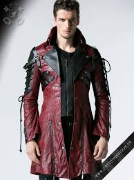 poisonblack men s gothic style red jacket by punk rave code y 349 red male men s gothic metal punk and steampunk fashion clothing and accessories by