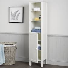 Innovative Tall Bathroom Storage Cabinet with Small Floor Standing